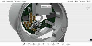 Servo drive 3d model integrated on robotic axis joint