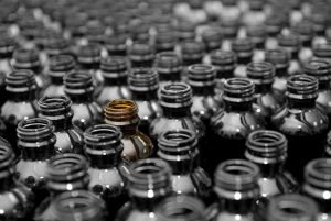 Bottles on packaging line automation