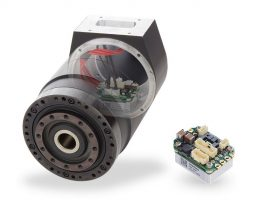 Servo drive integrated inside motor
